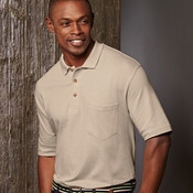 UltraClub® Adult Classic Piqué Polo with Pocket